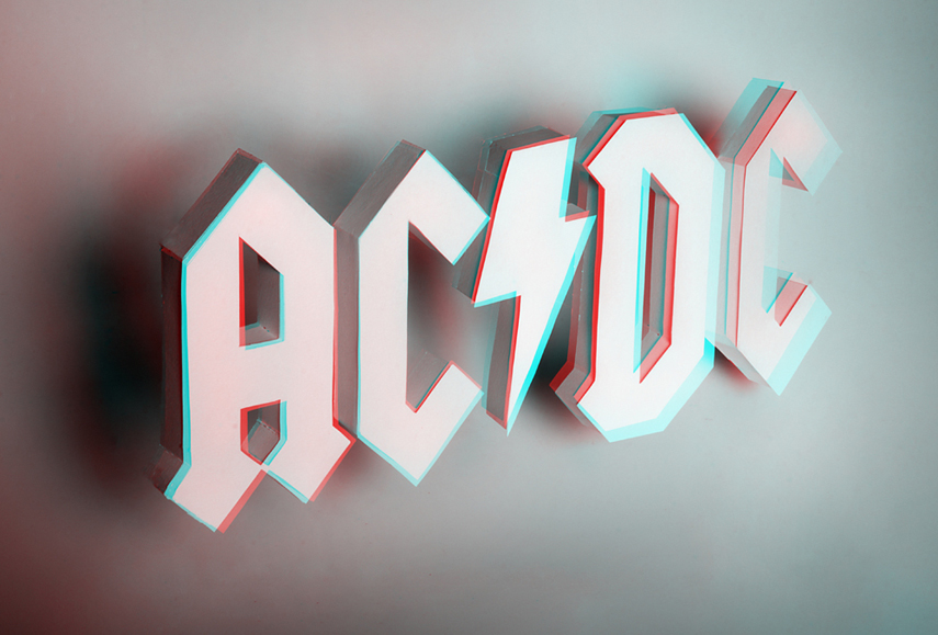 ACDC 3D Letters