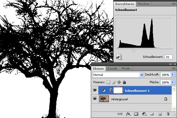 Baum Schwellenwert Screenshot