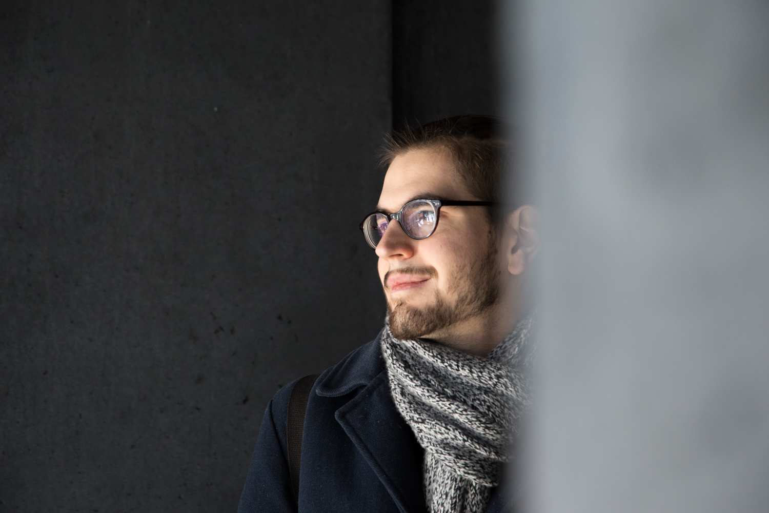 At the Harpa in Reykjavík, Florian Lehmuth is staring pensively into the void, a secret smile on his lips.