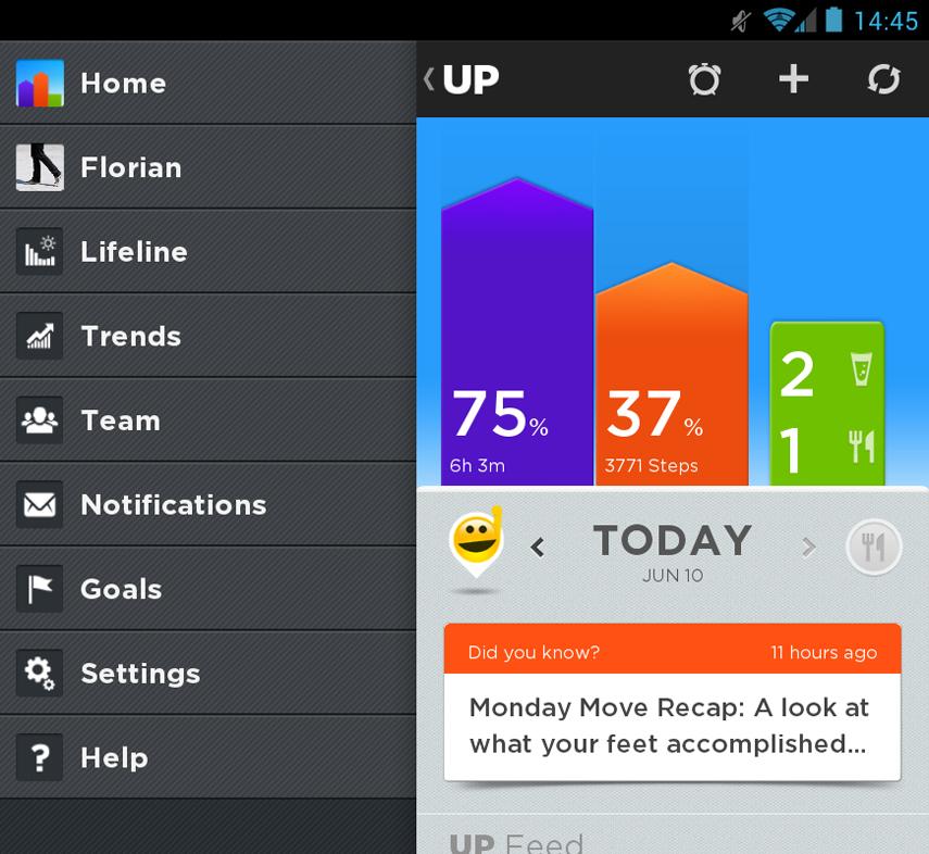 Jawbone UP App Screenshot 01
