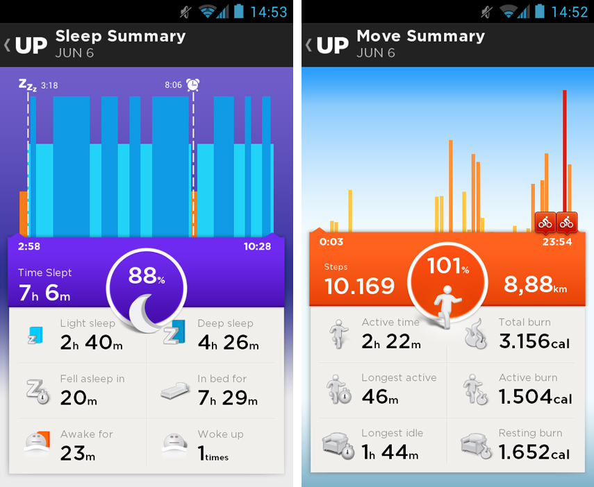Jawbone UP App Screenshot 02