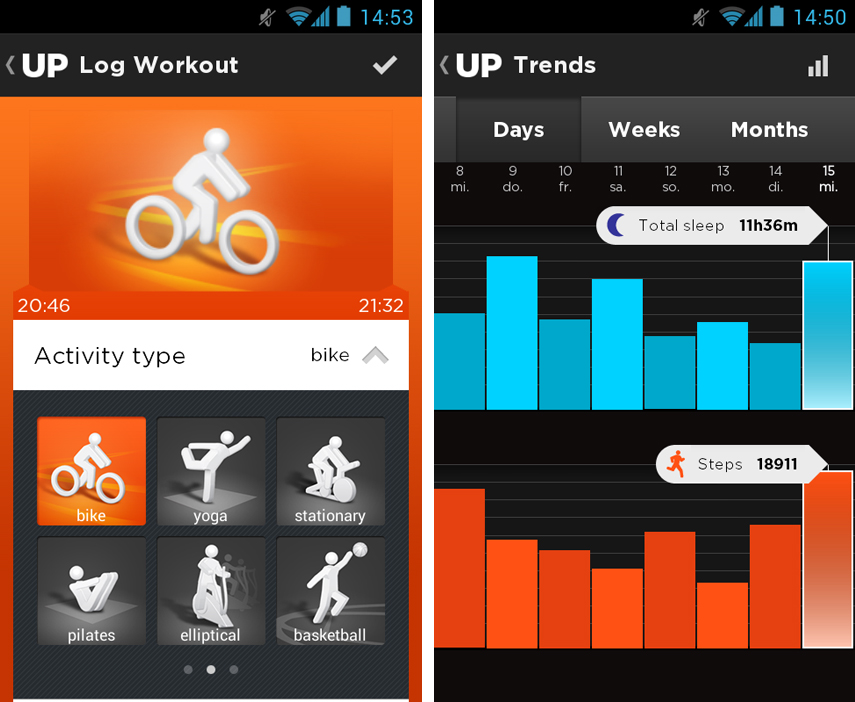 Jawbone UP App Screenshot 04