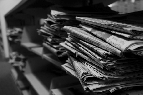 Newspapers Shelf