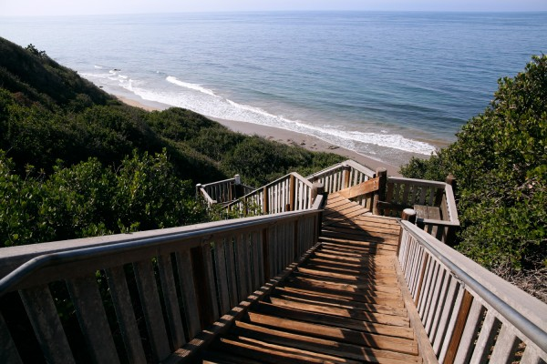 Santa Barbara Beach Wooden Stairs